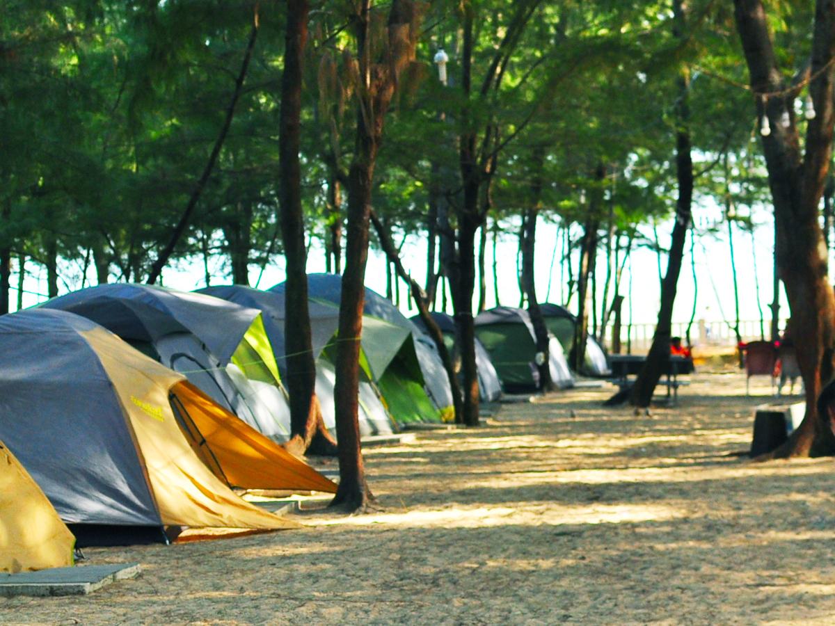Một trong các khu cắm trại biển